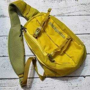 Patagonia handdyed yellow atom sling custom ooak